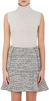 Nina Ricci WOMEN'S CREPE-BACK SLEEVELESS TURTLENECK SHELL