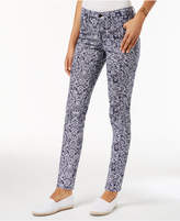 Charter Club Petite Printed Ankle Jeans, Created for Macy's