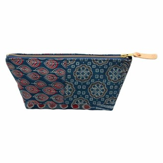General Knot & Co Bengal Blue Patchwork Travel Clutch