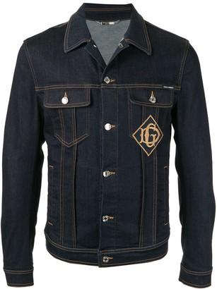 Dolce & Gabbana logo patch denim jacket