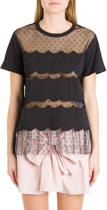 RED Valentino Lace-Detailed T-Shirt