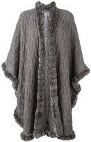 N.Peal furry trim cardi-coat - women - Rabbit Fur/Cashmere - One Size