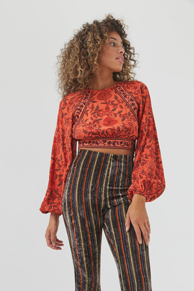 Urban Outfitters Shelby Tie-Back Blouse