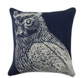 Thomas Paul Owl Pillow - Indigo