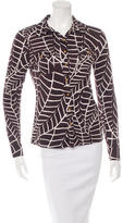 Tory Burch Silk Printed Button-Up Top