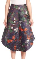 Cédric Charlier Floral Print Midi Skirt