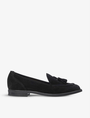 Dune Gimme tassel suede loafers
