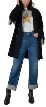 Marella Fringe Sleeve Coat