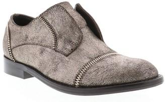 Sbicca Metallic Leather Slip-On Oxfords - Mikalor