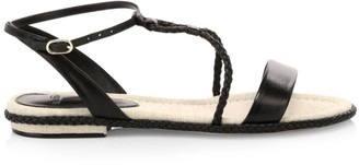 Alexandre Birman Cammie Braided Leather Sandals