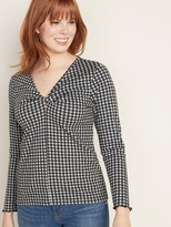 Old Navy Soft-Brushed Twisted V-Neck Top for Women