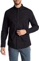 Kenneth Cole New York Long Sleeve Slim Fit Printed Shirt