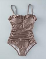 Boden Ruffle Bandeau Swimsuit