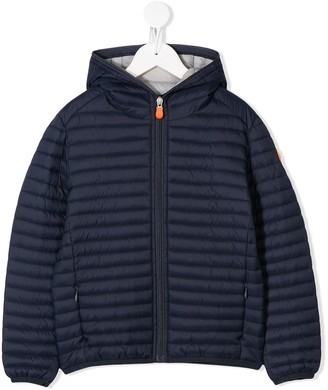 Save The Duck Kids Quilted Zipped Jacket