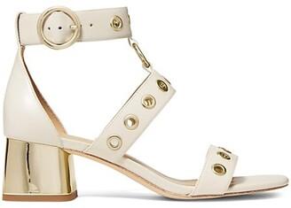 MICHAEL Michael Kors Amos Grommet Leather Sandals