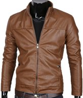 West Bank WB Leather Men's Leather Motorcycle And Biker Leather Jacket