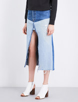 High Waisted Denim Skirt - ShopStyle