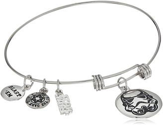 "Star Wars Jewelry Stormtrooper Stainless Steel Expandable Charm Bracelet 7.5"" (SALES1SWMD)"