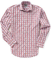 Thomas Dean Big & Tall Coupe Check Long-Sleeve Woven Shirt
