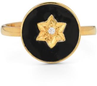 Ring Black North Star Gold