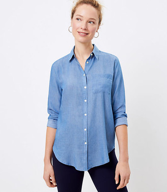LOFT Chambray Tunic Shirt