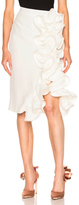 Brock Collection Stacey Skirt in White.