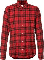 Faith Connexion plaid print shirt - men - Cotton/Spandex/Elastane - M