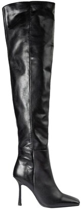 Tony Bianco Halo Black Como Long Boots