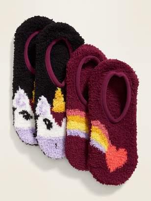 Old Navy Cozy Gripper Sneaker Socks 2-Pack for Women