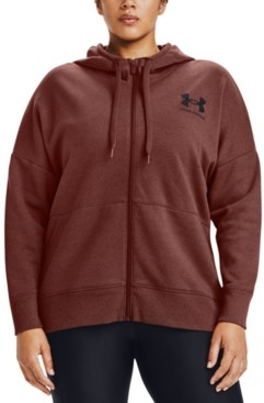 Under Armour Plus Size Rival Zippered Hoodie