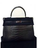 Hermes pristine (PR So Black Alligator 35cm Kelly Bag with Black Hardware - Limited Collectors Edition