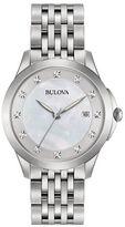 Bulova Diamond Hour Marker Stainless Steel Chronograph
