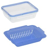Pyrex 4-Cup Round Glass Food Storage Container Navy