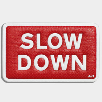 Anya Hindmarch Slow Down Leather Sticker