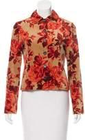 Carolina Herrera Printed Velvet Jacket