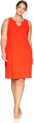 Calvin Klein Women's Plus Size Sleeveless Dress with Chain Hardware