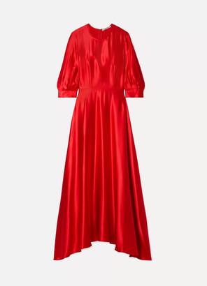 Deitas Ada Silk-satin Maxi Dress - Red