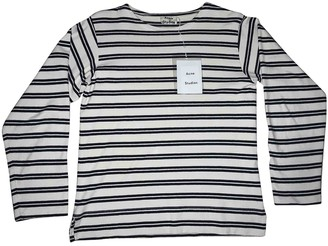 Acne Studios White / Blue Cotton T-shirts
