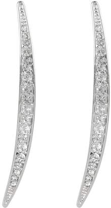 Vince Camuto Crystal Accent Curved Linear Earrings