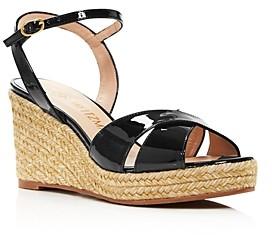 Stuart Weitzman Women's Rosemarie Strappy Espadrille Wedge Sandals