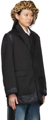 Junya Watanabe Paneled Gabardine & Nylon Ripstop Coat