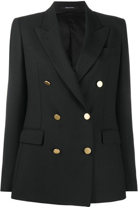 Tagliatore Double-Breasted Fitted Jacket