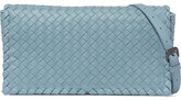 Bottega Veneta Intrecciato Leather Shoulder Bag - Sky blue