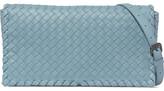 Bottega Veneta Intrecciato Leather Shoulder Bag - Sky blue