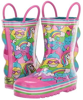 Western Chief 2 Cool Rain Boot (Toddler/Little Kid/Big Kid) (Multi) Girls Shoes