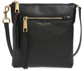 Marc Jacobs Recruit Leather Crossbody Bag - Black
