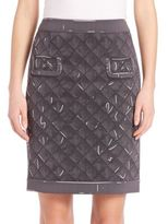 Moschino Quilted Print Two-Pocket Skirt