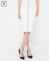 White House Black Market Petite Piped Pencil Skirt