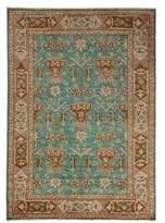 Solo Rugs Oushak Collection Geometric Border Oriental Rug