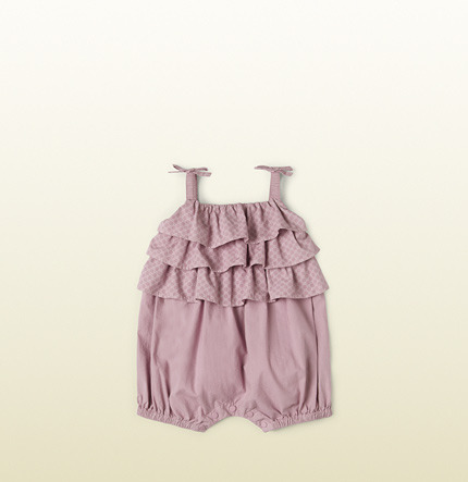 Gucci vintage rose cotton overall with mini GG print